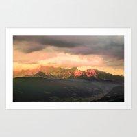 Escaping  -  Mountains - Dachstein, Austria Art Print
