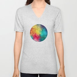 Abstract Color Wave Flash Unisex V-Neck