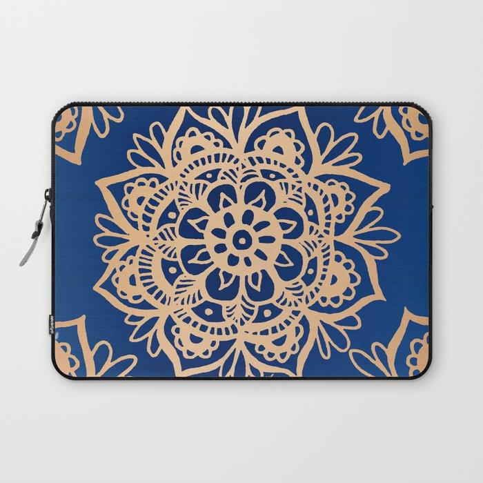Blue and Gold Mandala Laptop Sleeve