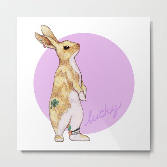 Lucky Bunny Metal Print