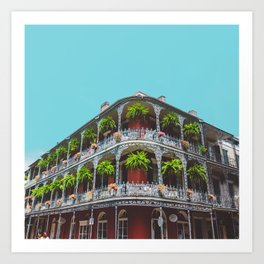 Hanging Baskets of Royal Street, New Orleans Art Print