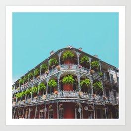 Hanging Baskets of Royal Street, New Orleans Art Print