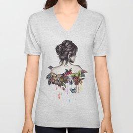 Butterfly Woman Unisex V-Neck