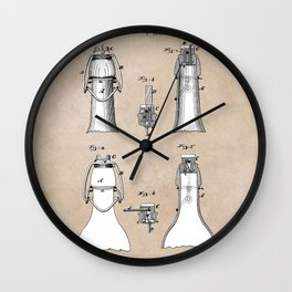 patent Putnam Bottle Stopper and Fastener Wall Clock
