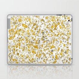 Real gold granite terrazzo pattern Laptop & iPad Skin