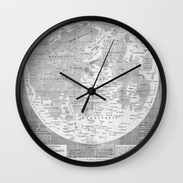 Van Langren - Map of the Moon from Pienilunii lumina Austriaca 1645 Wall Clock