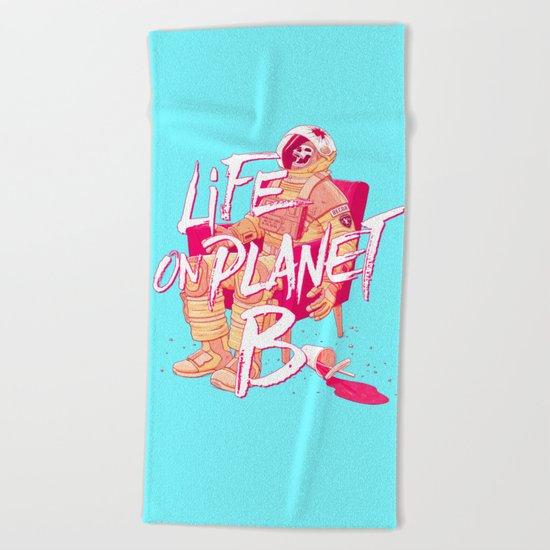 Life on Planet B Beach Towel