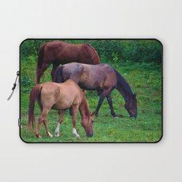 Grazing Horses Laptop Sleeve