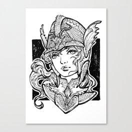 Iron Ladies Angelina Canvas Print