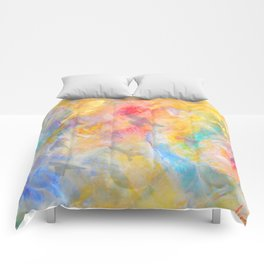 gold sky paradise Comforters