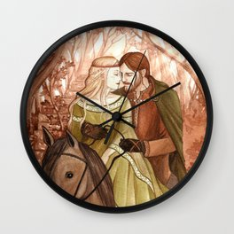 Tristan and Isolde Wall Clock