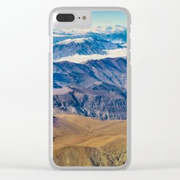 Andes Mountains Aerial View, Chile Clear iPhone Case