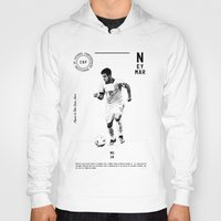neymar Hoodies featuring Neymar by Dylan Giala