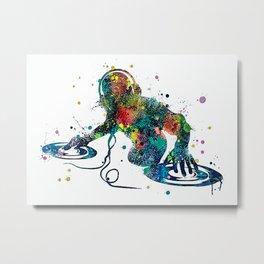 Disc Jockey Colorful DJ Metal Print