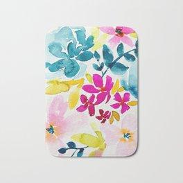 Blue Bloom Bath Mat