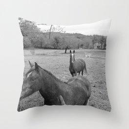 horsemud Throw Pillow