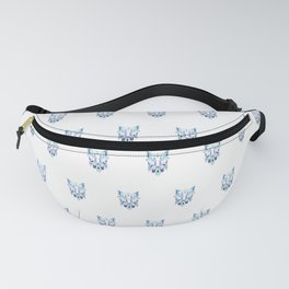 Crystal wolf face pattern Fanny Pack