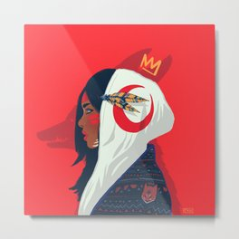 Nahual girl Metal Print
