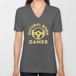 Natural Born Gamer Unisex V-Neck