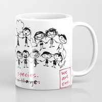 community Mugs featuring it takes a village - i mean - a species by Dani Katz