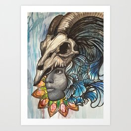 With a C. Art Print
