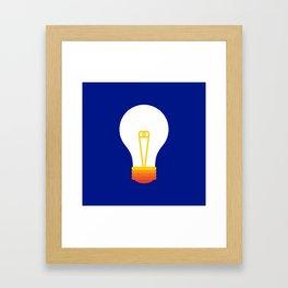 Pop Bulb Framed Art Print