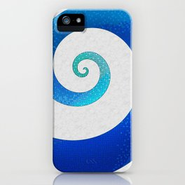 Ocean Waves - Water Mosaic iPhone Case