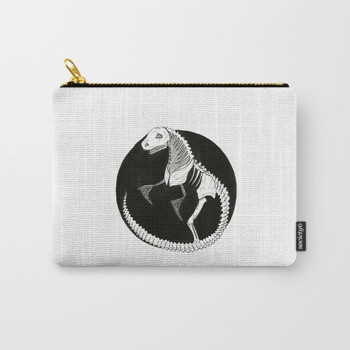 T-Rex Skeleton  Carry-All Pouch