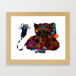 sock stealer Framed Art Print