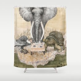 Council of Animals Shower Curtain