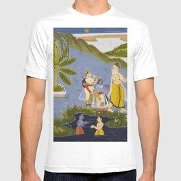 Crossing the Ganges, Ramayana, Bala Kanda landscape painting T-shirt