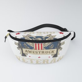 USA Proud Veteran Patriot Soldier Gift graphic Fanny Pack