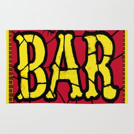 BAR AND SPIDERS VINTAGE SIGN Rug