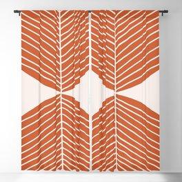 Minimal Fall Leaf Dark Orange Blackout Curtain