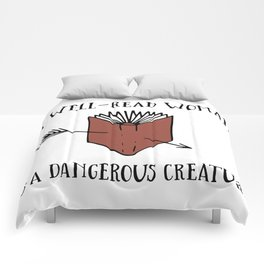 A Well-Read Woman is a Dangerous Creature (Red) Comforters