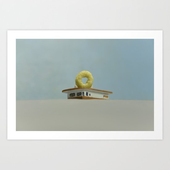 Cheerio Randy's Donuts Art Print