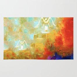 Angels Among Us - Emotive Spiritual Healing Art Rug