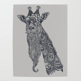 Giraffe Movember Poster