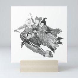 B&W Hocus Pocus Mini Art Print