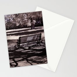Park Bench in the Shadows Stationery Cards