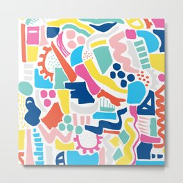 Colour Scatter Metal Print
