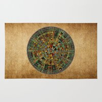 calendar Area & Throw Rugs featuring Ancient Calendar by Klara Acel