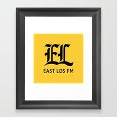 East Los FM Framed Art Print