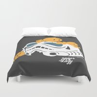storm trooper Duvet Covers featuring Let's play storm trooper by inkdesigner