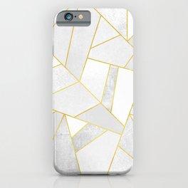 White Stone iPhone Case