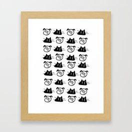Love my pets Framed Art Print