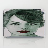 emma stone iPad Cases featuring Emma Stone  by Kristy Holding