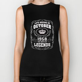 October 1958 The Birth Of Legends Biker Tank