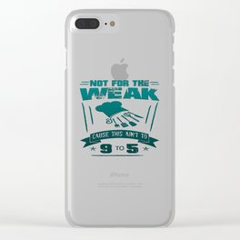 Not for the weak Clear iPhone Case