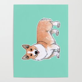 Pembroke Welsh Corgi dog Poster